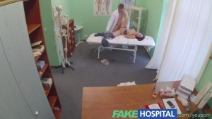 FakeHospital Doctor gets balls deep with bisexual patient whilst boyfriend waits outside