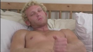 Blonde Straight Guy Luke Masturbating