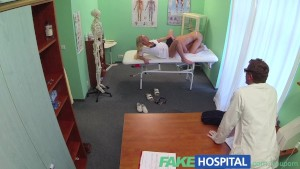 FakeHospital Dirty doctor and naughty nurse both pleasure patients pussy ending with a creampie