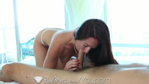 HD - PureMature Hot milf sneak on her man in the shower