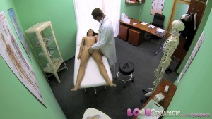 Love Creampie Doctor slides his cock into student s warm hole and shoots