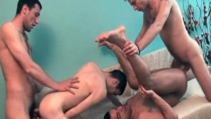 Four horny dudes in heat
