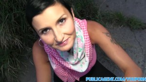 PublicAgent Short haired babe fucks for cash