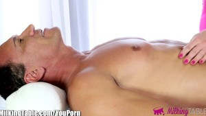 MilkingTable Horny Father In Law Gets Cock Massage Treatment
