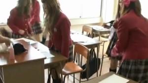 Schoolgirls go nasty in hot teacher