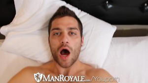 HD - ManRoyale Guy wakes up with bf s mouth on his dick