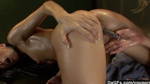 One hot lesbian massage session