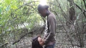 Audrey fucked through the woods