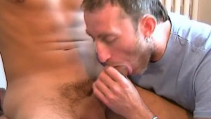 Sucking his huge latino cock: Ricardo get sucked by our assistant.
