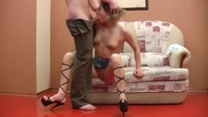 her first extreme gagging lesson