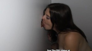 Cute Young Brunette Sucking Off Strangers