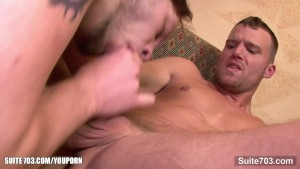 Tattooed gay gets ass fucked well