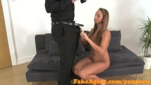 FakeAgent Tanned dancer fucked