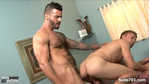 Gay doctor fuck his patient at work