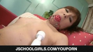 Young AMu Kosaka needs a huge dildo to play