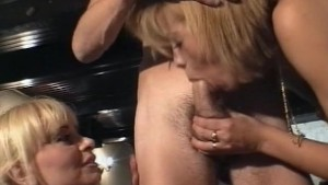 Two blonde share a cock - Java Productions