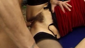 Older lady hairy pussy penetrated by two guys - Java Productions