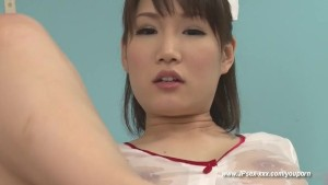 beauty japanese nurse footjob & titsjob