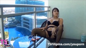 TS Filipina Shemale Loves To Fuck Man Ass