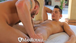 Derek Parker pounds Ethan Slader at a gay resort