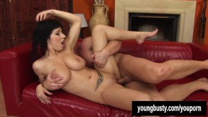 Busty brunette Daisy gets nailed
