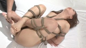 Asian beauty tied up and fucke