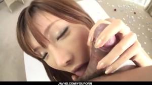 Perfect porn show with slim Serina Hayakawa