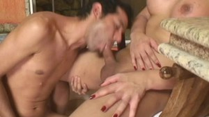 Riding shemale cock in the bathroom - Tranny Kings