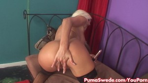 Euro Blonde Puma Swede Loves her Vibrators!