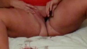 Blonde BBW Solo Masturbation Toy