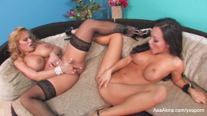Asa Akira Takes on Shyla Part 1