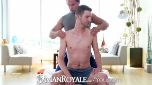 ManRoyale - Straight Stud Aspen Goes Deep in John Darlings Ass