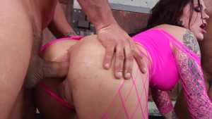 Karmen gets hard rough double