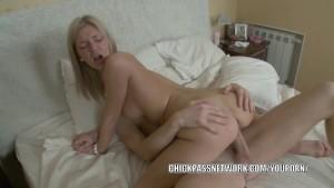 Teen hottie Caitlin is getting fucked in her tight ass