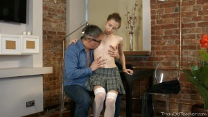 Tricky Old Teacher - Nastya s plan of flirting
