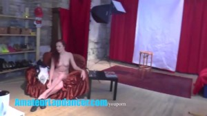 Gorgeous 18yo redhead shows body at her first CASTING ever