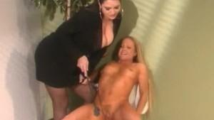 Lady Boss Spanking Her Vixen Employee