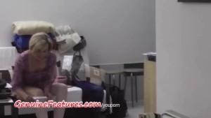 Sexy TEEN vs. blonde MILF in backstage