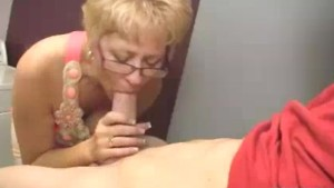 Milf Starts Touching Young Man s Boner