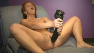 Two big brutal dildos for nymp