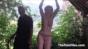 Saschas outdoor tit whipping and brutal bizarre domination