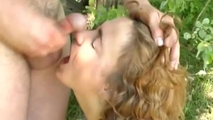 redhead picked up for sex in nature