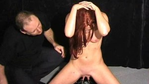 Amateur bdsm and tit torture of cute sub Chaos in pussy clamped pain and hardcore hellpain whipping of redhead slave