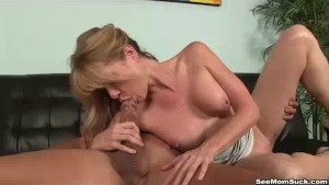 Mom Wants To Suck His Thick Cock Right Away