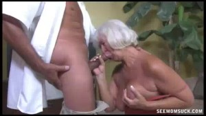 Horny Granny Grabs The Thick R