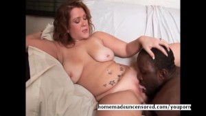 Huge titty babe riding black c