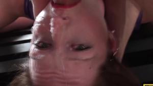 Brit femdom facefucked by maledom