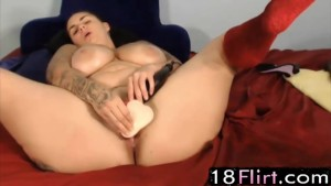 Inked facial cumslut Brittney wit huge boobs – 18flirt.com