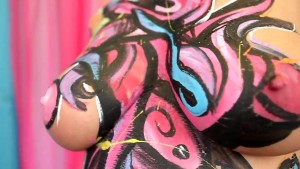 Charley Chase Sexy Pink Body Paint