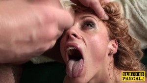 UK doublefilled submissive gagging